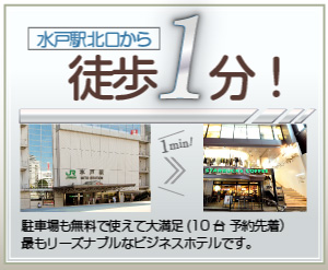 水戸駅北口から徒歩1分